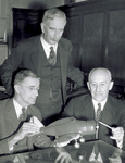 Orville Wright with Vannevar Bush and Charles G. Abbot