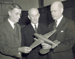 Orville Wright with Vannevar Bush and Robert Hinckley