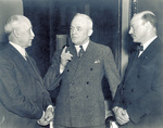 Orville Wright with General Arnold and Jerome Hunsaker