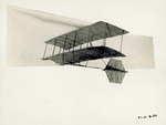 Chanute biplane glider with tail