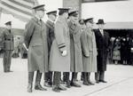 Orville Wright waits with Major Kepner and Captain Stevens