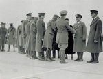 Major Kepner and Captain Stevens greet well-wishers in receiving line