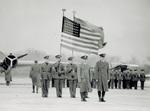 Major Kepner and Captain Stevens await presentation of Distinguished Flying Cross