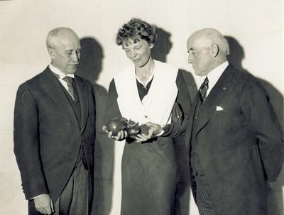 Orville Wright Amelia Earhart And Howard McClenahan