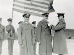 Captain Stevens receives Distinguished Flying Cross