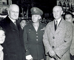 E. A. Deeds, General Kenny and Orville Wright at parade