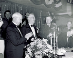 Orville Wright and Frederick H. Rike during a dinner at the Biltmore Hotel