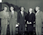 Orville Wright and others at Earlham College's centennial celebration