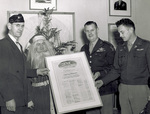 Scroll presented by Air Service Post #501 of the American Legion
