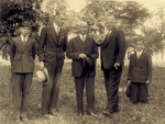 Orville Wright at tree planting ceremony