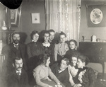 Party in the parlor of the Wright home