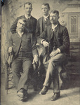 Reuchlin and Lorin Wright posed with two men