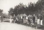 A group of spectators waiting for Wilbur Wright