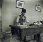 Edwin Sines in Printing Office