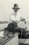 Orville Wright on a Boat