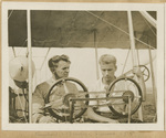 Rinehart and Beachey with a Wright Flyer