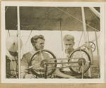 Rinehart and Beachey with a Wright Flyer
