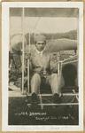 Brookins Seated in an Aeroplane