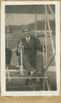 Johnstone Seated in Aeroplane