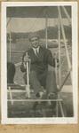 Johnstone Seated in Aeroplane