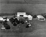 Korn Field and Farm in Jackson Center, Ohio circa 1948