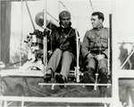 Walter Brookins at the Controls of a Wright Flyer, ca. 1911