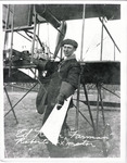Edward Korn with Farman Biplane circa 1911