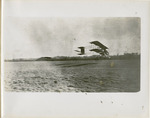 Farman Biplane Flying Over a Field, circa 1911