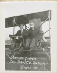 Edward Korn and C. E. Vandivort at the Controls of Benoist Airplane, circa 1911