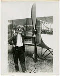 Edward Korn With Benoist Type XII Airplane, circa 1912