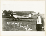 Edward Korn and a Benoist Type XII Airplane, circa 1912