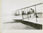 Edward and Milton Korn sitting in a Benoist Type XII Airplane, circa 1912