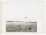 Edward Korn Flying a General Aeroplane Company Verville Flying Boat Over Lake St. Clair, Michigan, circa 1916