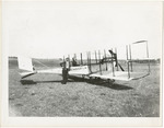 Edward and Milton Korn with Benoist Type XII Airplane, circa 1912