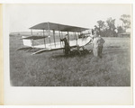 Edward and Milton Korn Standing Beside a Benoist Type XII Airplane, circa 1912