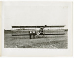 Edward and Milton Korn Standing In front of a Benoist Type XII Airplane, circa 1912