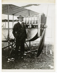 Edward Korn Standing Beside a Benoist Type XII Airplane, circa 1912