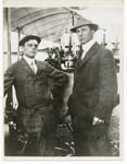Edward Korn and Russell Froelich Standing by a Benoist Type XII, circa 1912