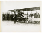 Edward Korn standing with a Benoist Type XII Airplane, circa 1912