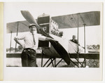 Milton and Edward Korn with a Benoist Type XII Airplane, circa 1912