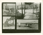 Collage Photograph of Edward A. Korn and His Benoist Airplane
