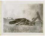 Wreck of Edward Korn's Benoist Type XII Airplane in Shelby County, Ohio on August 13, 1913