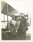 Edward Korn and an Unidentified Woman Beside a Benoist Type XII Airplane, circa 1912