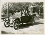 Edward Korn with Unidentified Men in an Early Automobile in Robinson, Illinois, circa 1912