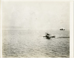 General Aeroplane Verville Flying Boat Moving Across Open Water, circa 1916