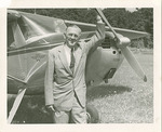 Photograph of an Unidentified Man Standing by a Cessna Airplane by Edward A. Korn