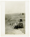 Steam Tractor Threshing at Korn Family Farm, circa 1910