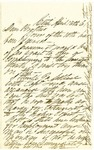 Letter from William Patterson to his brother on April 13, 1861