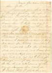 Letter from Robert Patterson to his mother on April 28, 1861