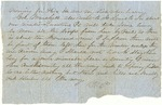 Partial letter from Robert Patterson to an unidentified recipient dated November 25, 1861